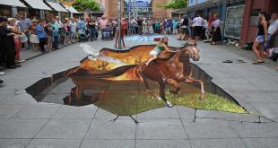 3D crteži na ulicama - optičke iluzije na asfaltu