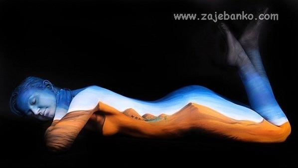 Body art optička iluzija