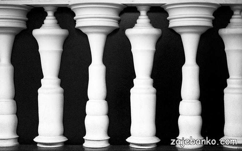 Figurice za šah ili ljudi - optička iluzija