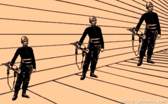 Optička iluzija - ljudi iste visine