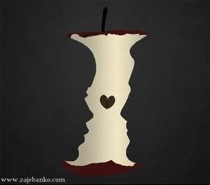 Jabuka ili zaljubljen par - dvosmislena optička varka
