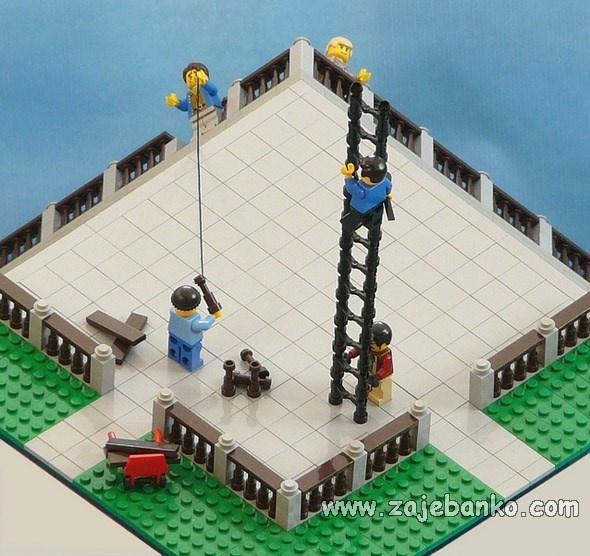 Terasa ili vrt od Lego kockica - iluzija
