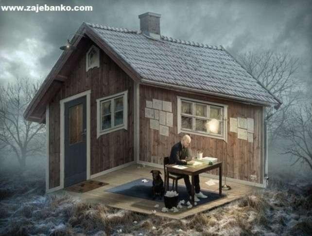 Optička iluzija - u kući ili ispred kuće