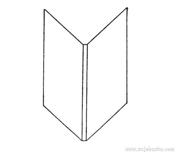 how to draw a open book easy