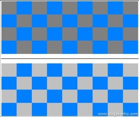 Ista nijansa plave boje - optička iluzija