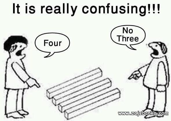 Tri ili četiri štapa - zbunjujuća optička varka