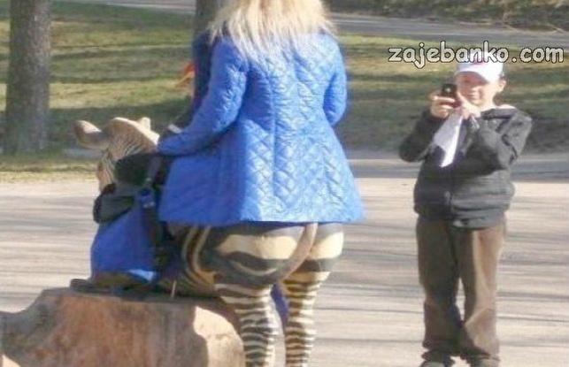 Žena zebra - optička iluzija