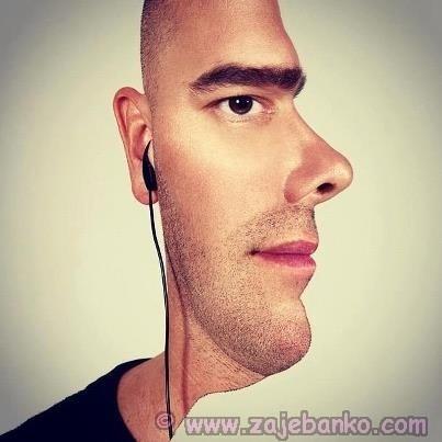 Pogled muškarca - optička iluzija