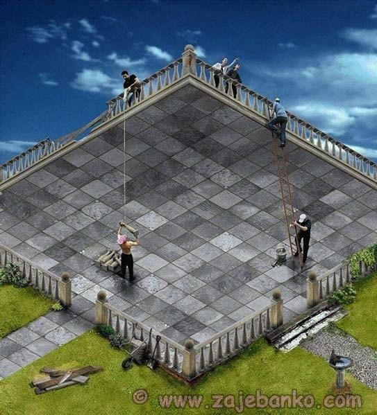 Vrt ili terasa - nemogući objekti