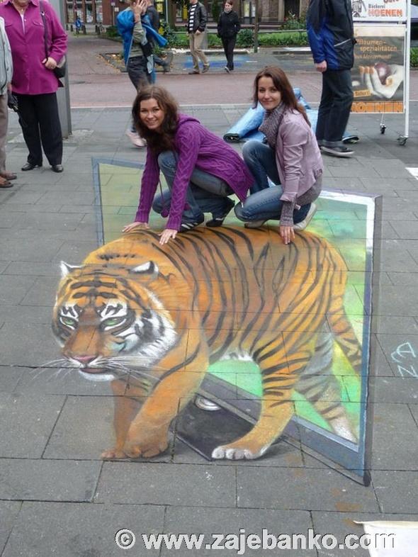 Optičke varke 3D street art - crtanje po ulicama