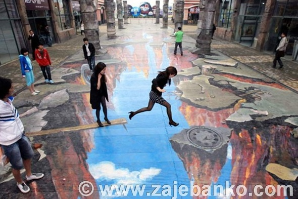 Optičke varke 3D street art