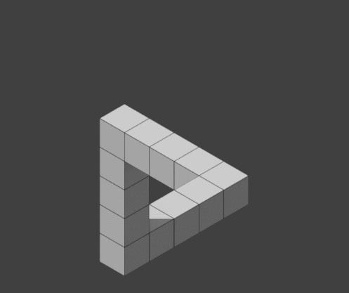 Penroseov nemogući trokut od kockica