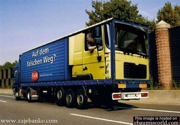 Smjer kretanja kamiona - optička varka