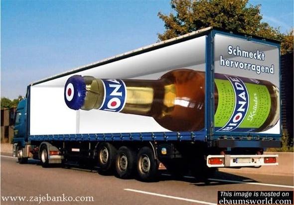 Velika boca piva - optička varka