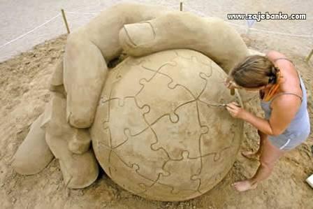 Kreativne skulpture od pijeska