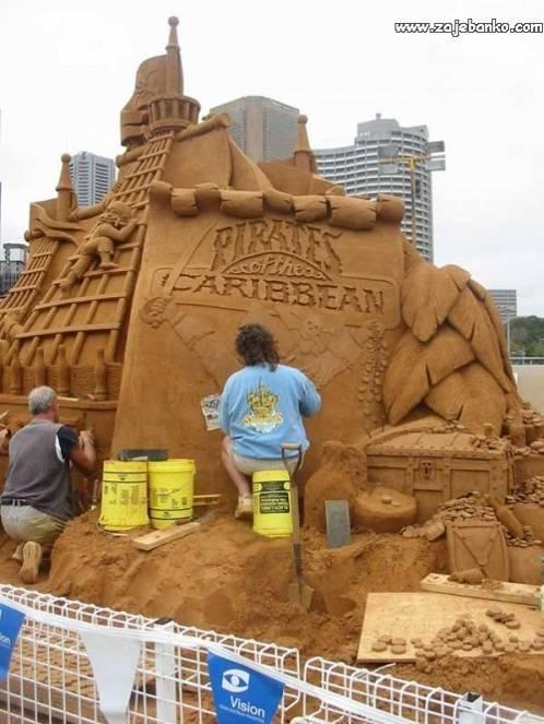 Pješčane skulpture - umjetnost u pijesku
