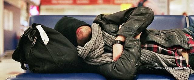Zaspali u zračnoj luci