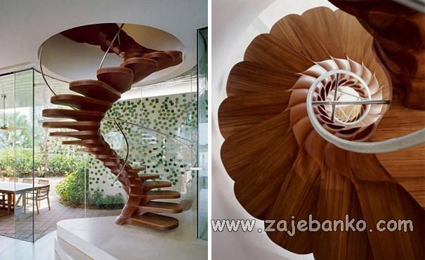 Prekrasna ovalna stubišta