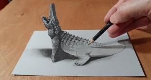 trodimenzionalni crteži olovkom