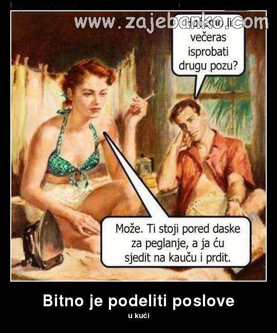 Život u braku - smiješne slike - podjela poslova