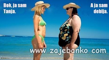 debele žene humor - tanja i deblja
