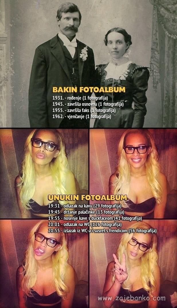 Generacijski jaz smiješne slike - Bakin i unukin fotoalbum