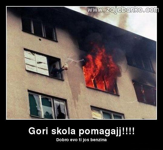 Iz školskih dana - škola gori