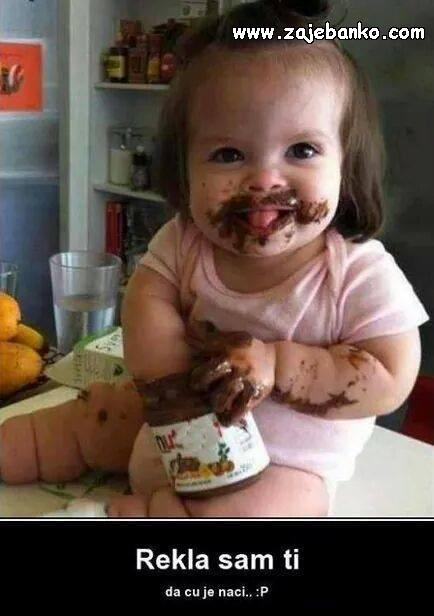 Komične slike djece - Nutella