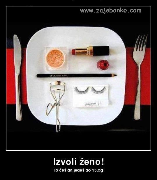 Brak kroz humor i prepucavanja - šminka za ručak