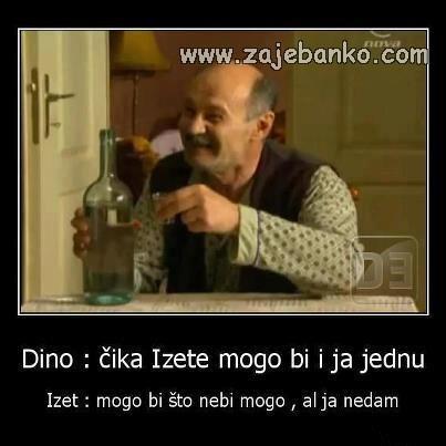 Pijani ljudi smiješne slike - Izet pije maksuziju