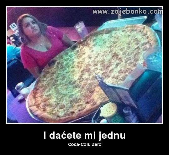 pizza i coca-cola zero - smiješna slika