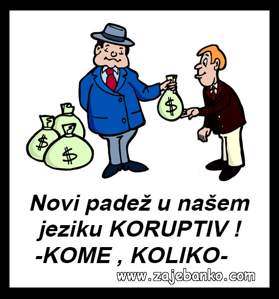 Politika smiješne slike - Koruptiv