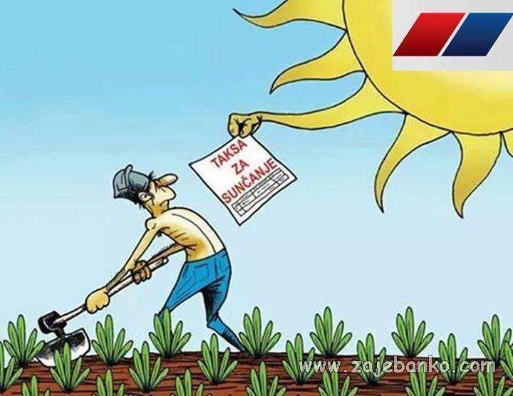 Politika smiješne slike - Taksa za sunčanje