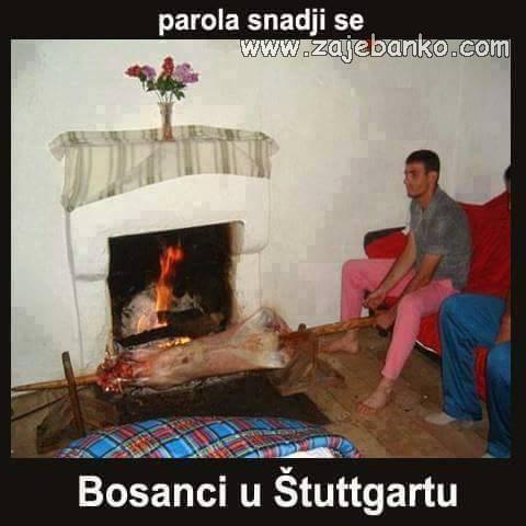 Smiješne slike Bosanci - Bosanac na baušteli u Stuttgartu