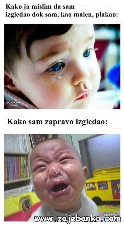 Smiješne slike djece - uplakana djeca