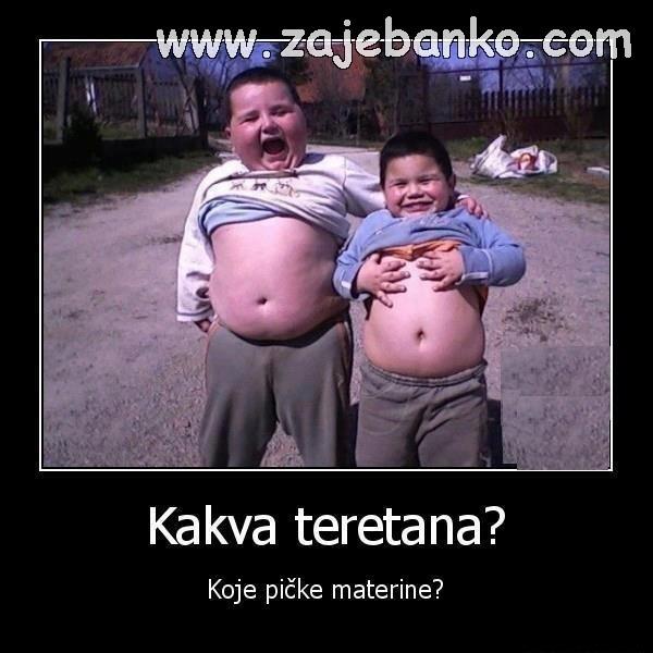Smiješne slike djece - debela djeca