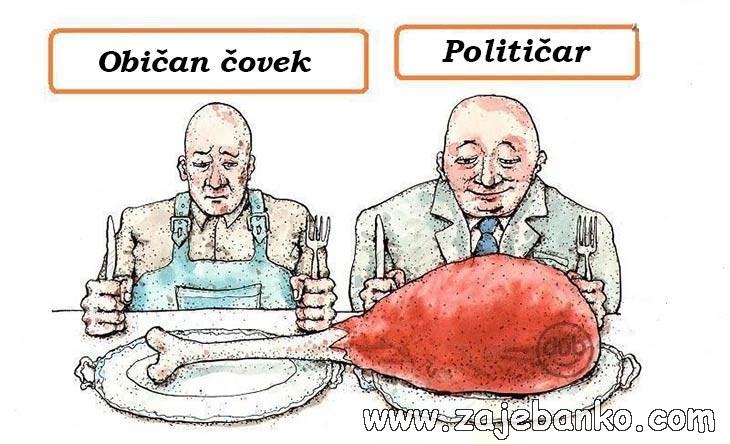 Smiješne slike političari - Običan čovjek & Političar