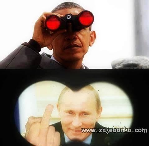 Smiješne slike političari - Barack Obama & Vladimir Putin