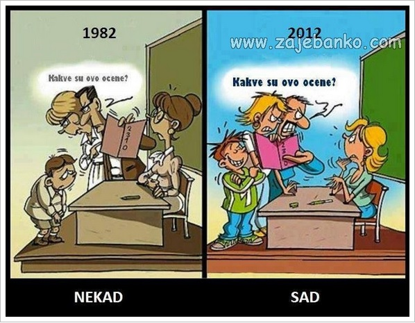 Smiješne slike iz škole - škola nekad i sad