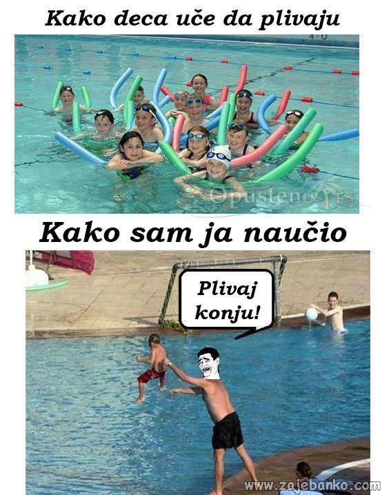 Zajebancije dječja posla - Učenje plivanja