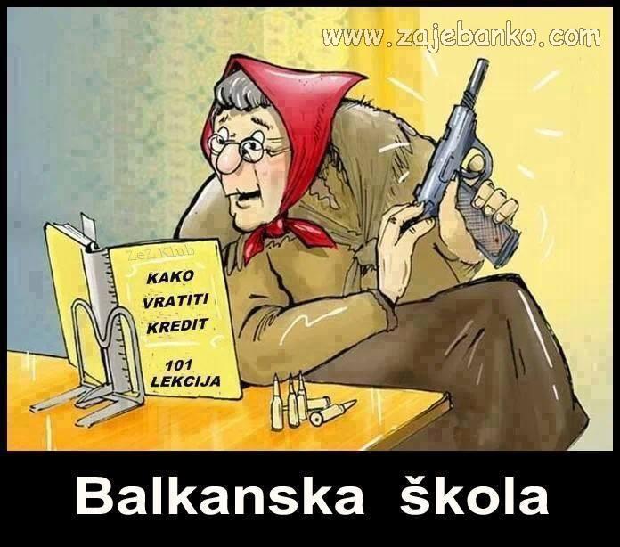 Lude stare babe humor - Balkanska škola - kako vratiti kredit