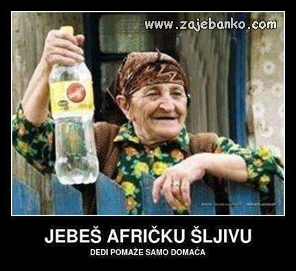 Smiješni starci - afrička šljiva