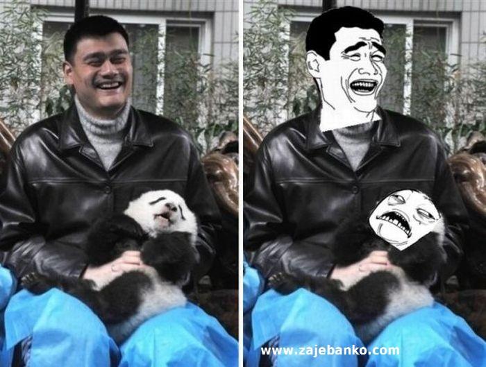 Yao Ming smiješno lice