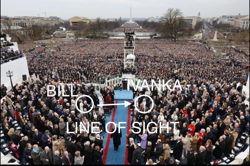 Bill Clintom pogledom skida Ivanku Trump