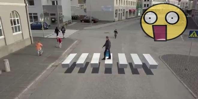 Optička varka: Pješački prijelaz pred kojim svi staju