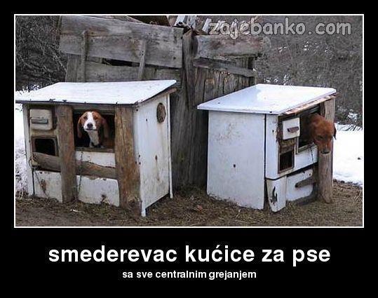 kućice za pse sa centralnim grijanjem