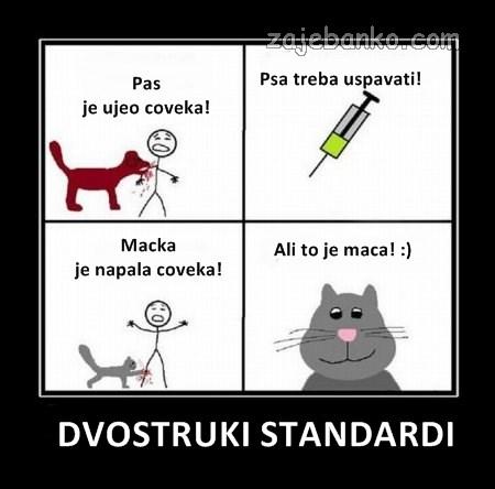 psi & mačke - dvostruki standardi